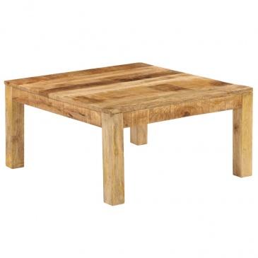 Stolik kawowy z litego drewna mango, 80 x 80 x 40 cm