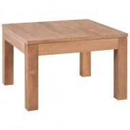 Stolik kawowy z litego drewna tekowego, naturalny, 60x60x40 cm