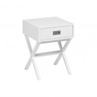 Stolik nocny biały 1 szuflada Onda