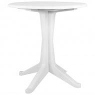 Stolik ogrodowy, 70 cm, plastikowy, biały