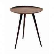 Stolik pomocniczy okrągły 46x41 cm Miloo Home Rundo brązowy