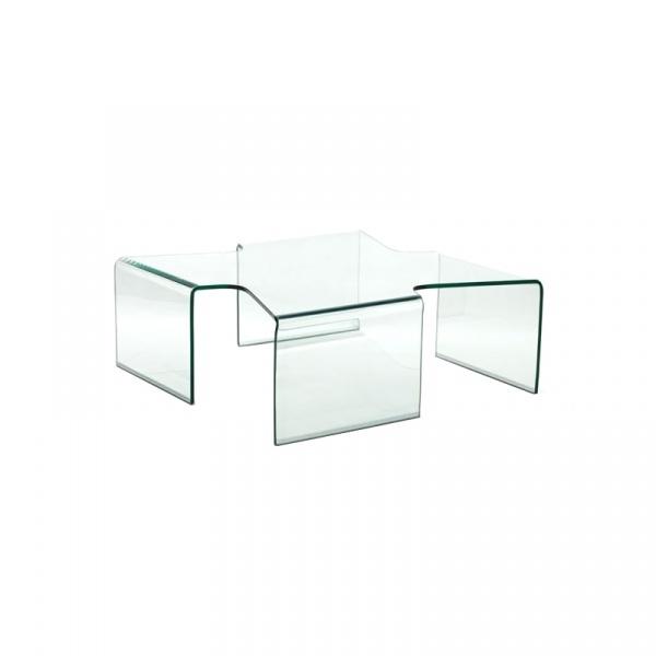 Stolik szklany 12 mm King Bath Axenta Standard transparentny TO-SCB-200C