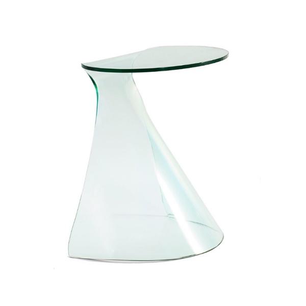 Stolik szklany King Home Balena transparentny S-028