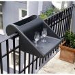 Stolik z pojemnikiem na balkon Balkonzept Rephorm biały RB004