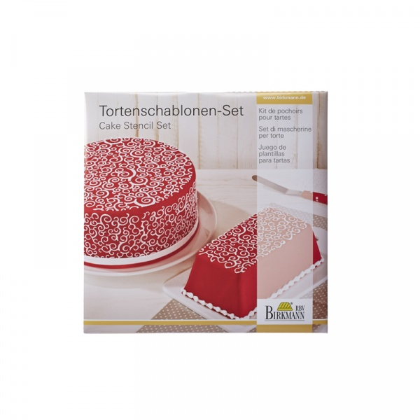 Szablony do dekoracji tortów CURLS 2 szt. Birkmann Cake Couture 450 271