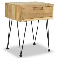 Szafka nocna, 40 x 30 x 50 cm, lite drewno tekowe