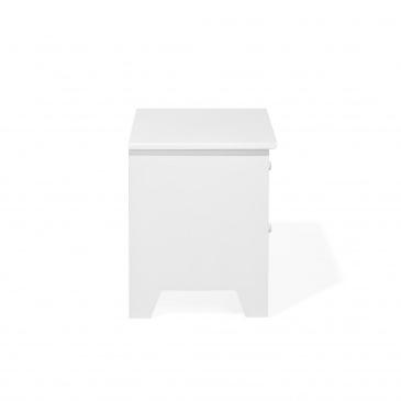 Szafka nocna biała 2 szuflady ROSSELANGE