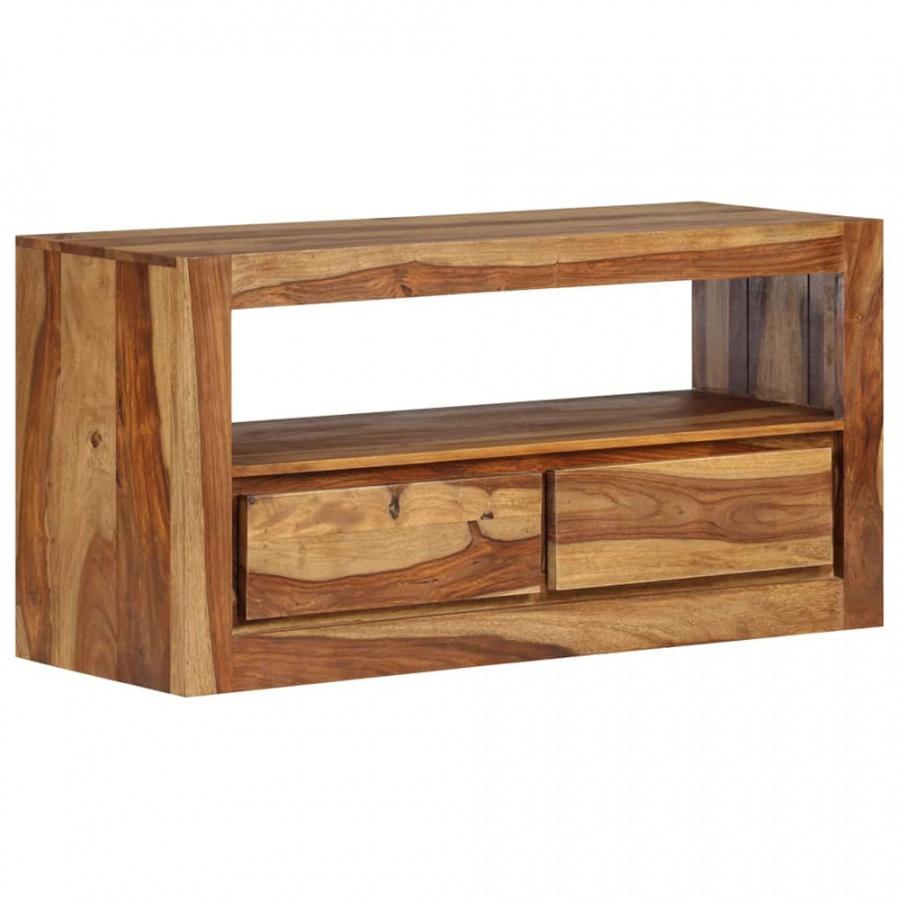 Szafka pod telewizor, lite drewno sheesham, 80x30x40 cm kod: V-246218 + Z NAMI NIE RYZYKUJESZ