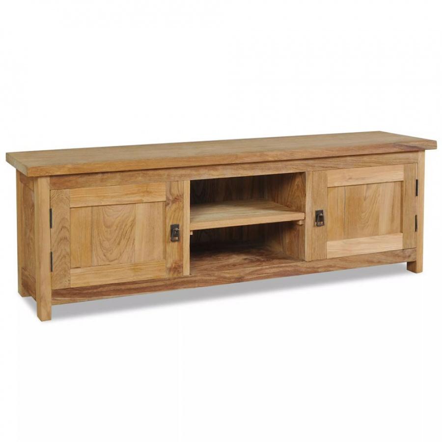 Szafka pod telewizor, lite drewno tekowe, 120 x 30 x 40 cm kod: V-244485 + Z NAMI NIE RYZYKUJESZ