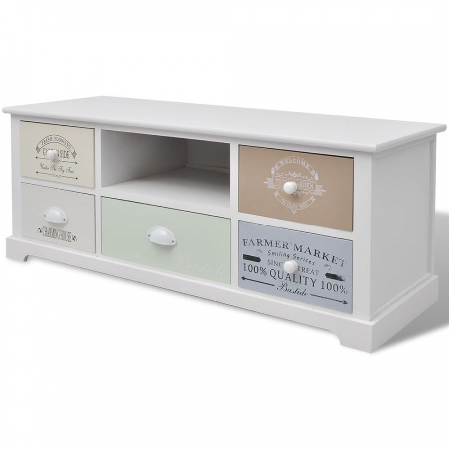 Szafka pod telewizor w stylu francuskim, drewno kod: V-242879 + Z NAMI NIE RYZYKUJESZ