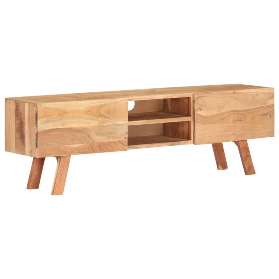 Szafka pod TV, 140x30x45 cm, lite drewno akacjowe kod: V-287868 + Z NAMI NIE RYZYKUJESZ