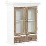 Szafka wisząca, biała, 49 x 22 x 59 cm, lite drewno