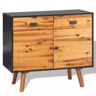 Szafka z drewna akacjowego, 90 x 33,5 x 83 cm