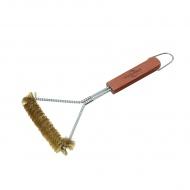 Szczotka do grilla z mosiężnym włosiem 30 cm Kuchenprofi Texas
