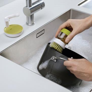 Szczotka do mycia naczyń z pompką Joseph Joseph szara
