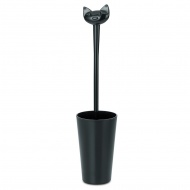 Szczotka do WC 43,6cm Koziol Miaou czarna