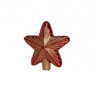 Szklana gwiazda 15cm Miloo Home czerwona