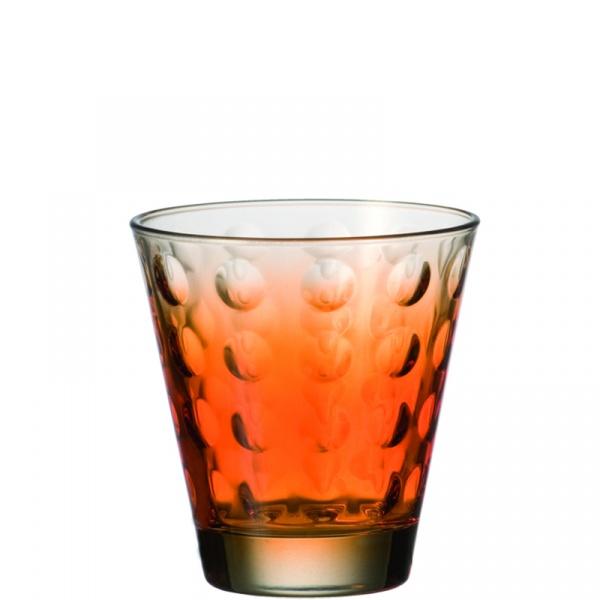 Szklanka 0,22 L pomarańczowa Leonardo Optic 049412