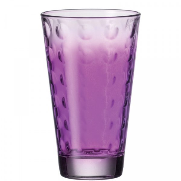 Szklanka 0,3 L fioletowa Leonardo Optic 049417