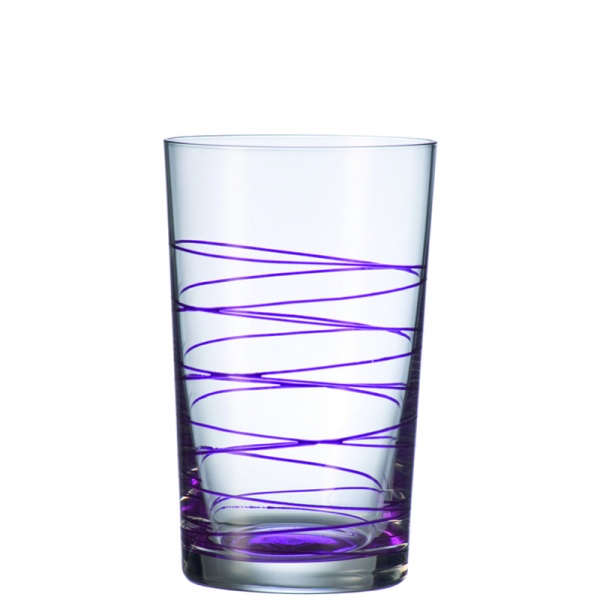 Szklanka 0,36 L fioletowa Leonardo Spirale 049541