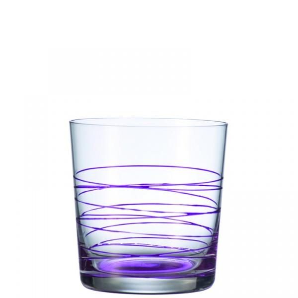 Szklanka 0,38 L fioletowa Leonardo Spirale 049537