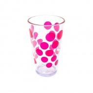 Szklanka 300 ml Zak! Designs Dot różowa
