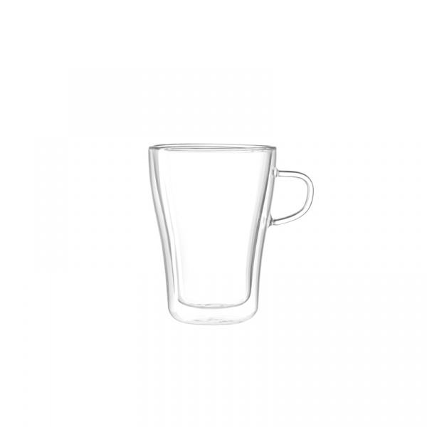 Szklanka izolowana 0,25 l Leonardo Duo przezroczysta 054143