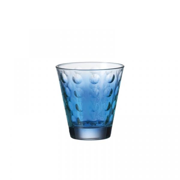Szklanka niska 0,25 l Leonardo Optic niebieska 049415