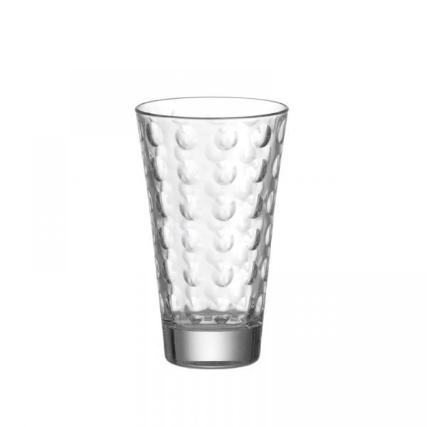 Szklanka wysoka 0,3 l Leonardo Optic bezbarwna 012684