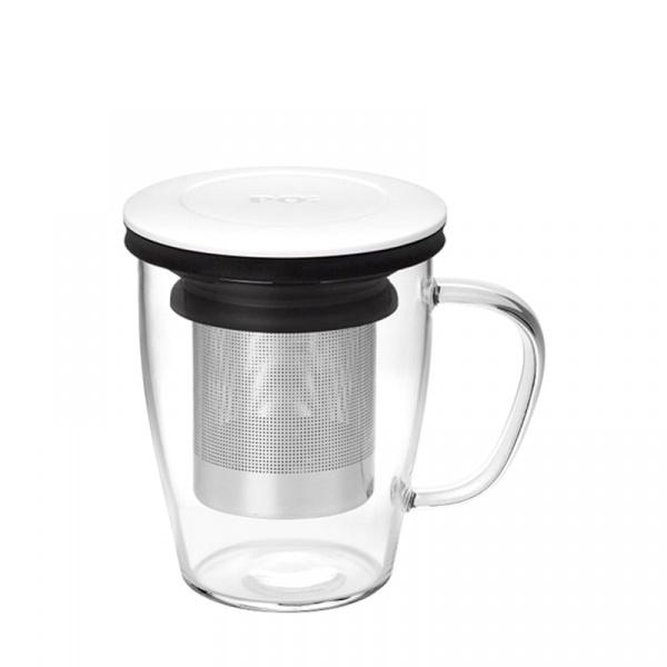Szklanka z zaparzaczem 350 ml PO: Ming biało-czarna 14752