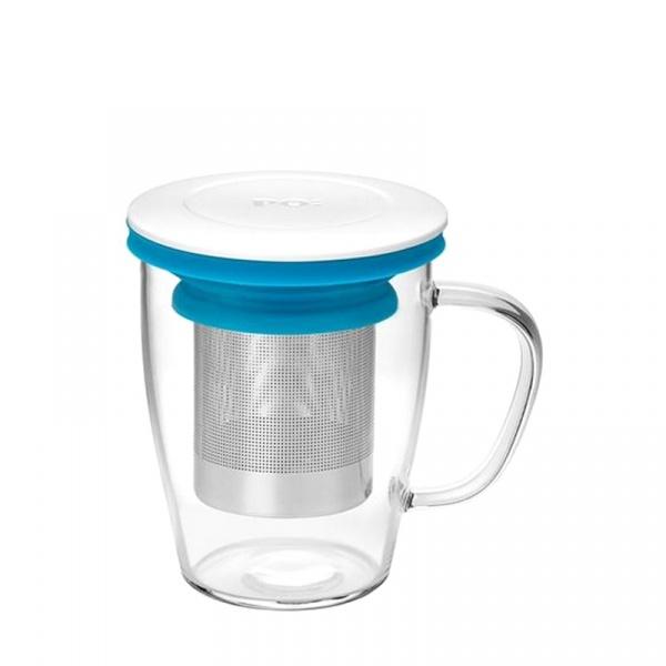 Szklanka z zaparzaczem 350 ml PO: Ming biało-niebieska 14751
