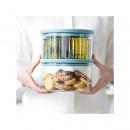 Szklany hermetyczny pojemnik kuchenny 2,5l pokrywa miętowa - Brabantia