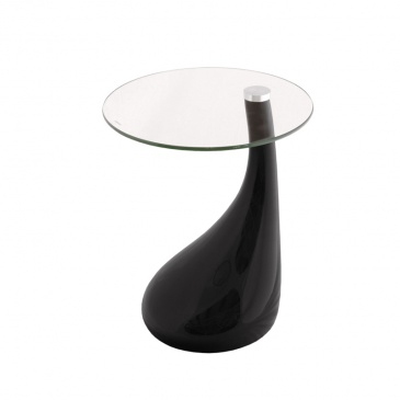 Szklany stolik 8 mm King Bath Lula czarny