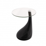 Szklany stolik 8 mm King Home Lula czarny