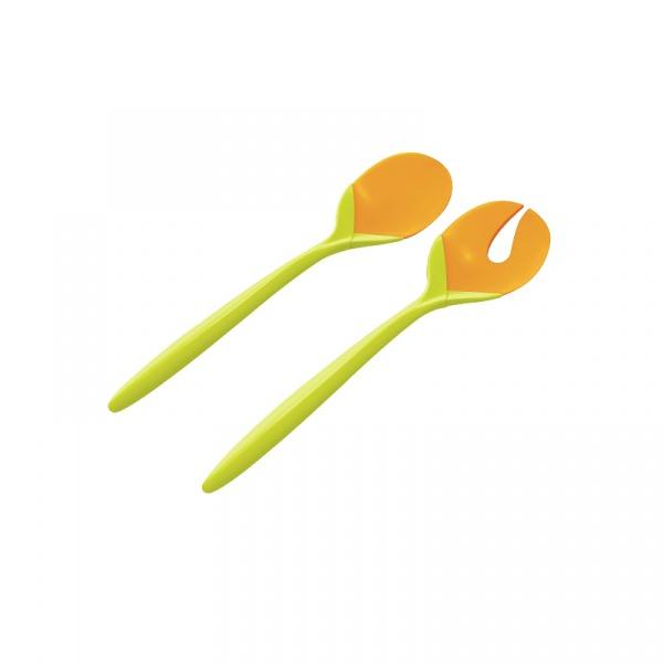 Sztućce do sałaty Zak! Design zielono- pomarańczowe 2257-0422
