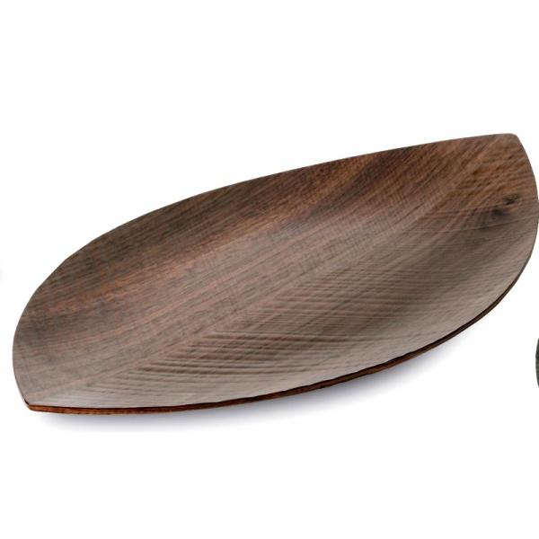 Taca orzechowa do serwowania 44,5 x 25 cm Leognoart Leaf - bez opakowania LT-21(1)