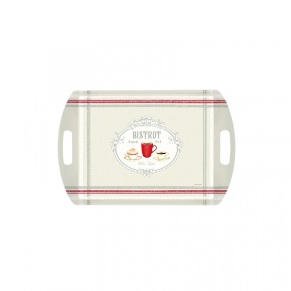 Taca prostokątna Nuova R2S Bistrot Olives czerwony kubek A28101 BIST