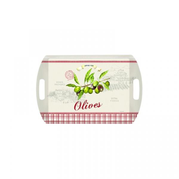 Taca prostokątna Nuova R2S Bistrot Olives oliwki A28101 OLIV