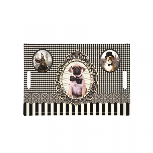 Taca prostokątna Nuova R2S Happy Life pieski 300 DOGS