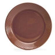 talerz, czerwony, ceramika, śred. 20 cm