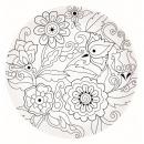 Talerz deserowy 19 cm Nuova R2S Art & Colour kwiaty