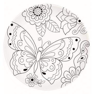 Talerz deserowy 19 cm Nuova R2S Art & Colour motyl