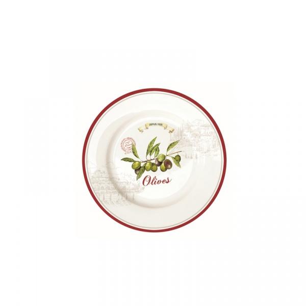 Talerz deserowy 19 cm Nuova R2S Bistrot Olives 944 OLIV