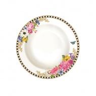 Talerz na zupę 21,5 cm Nuova R2S Flowers Glamour