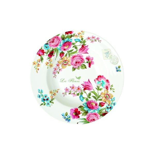 Talerz na zupę 21,5 cm Nuova R2S Jardin Secret kwiaty 943 JAS