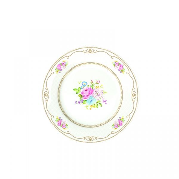 Talerz płytki Nuova R2S Vintage Bouquet biały 1150 WHIT