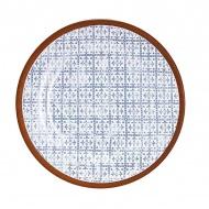Talerz z nadrukiem 17,5cm Ladelle Tapas biało-niebieski