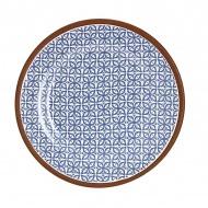 Talerz z nadrukiem śr.17,5cm Ladelle Tapas niebieski