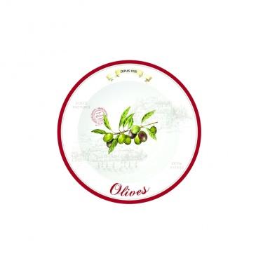 Talerze deserowe 4 szt. Nuova R2S Bistrot Olives