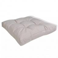 Tapicerowana poduszka do siedzenia, biały piasek 60 x 60 x 10 cm